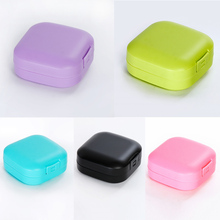 Bathroom Accessories Candy Color Soap Dish Soap Holder Square Portable Soap Storage Container Plastic Travel Supplies