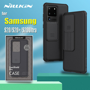 Image 1 - for Samsung S20 Ultra S20 Plus 5G Case Nillkin Slide Camera Protection Lens Protect Privacy Shockproof Cover for Galaxy S20 Capa