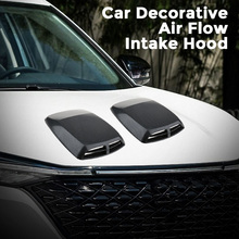 1 Pcs Universal Car Hood Decor Decorative Air Flow Intake Scoop Turbo Bonnet Vent Cover ABS Plastic 12.8*9.8*2 Inch Car Styling