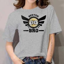 Neueste 2020 frauen Mode Bro T-Shirt Herren 01073 Bester Freund Bruder Geburtstag Barney Kodex Spaß Lustig Sommer Stil