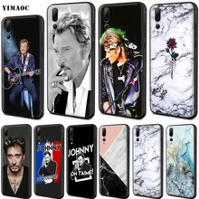 YIMAOC Johnny Hallyday Soft Case for Huawei Nova 4E 5 5T Smart P9 Lite Y6 Y7 2019 Honor 8A 20S Pro Prime(China)