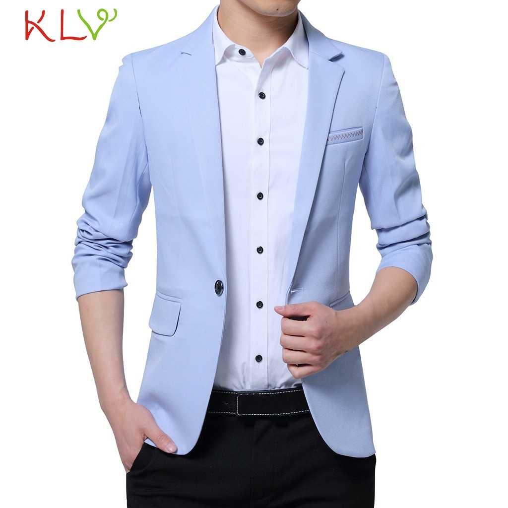 גברים מעיל חליפה בלייזר מקרית פורמליות Slim Fit כפתור אחד מעילים שחור כחול Mens זכר חורף מעיל רוח חתונה 5XL 19Aug