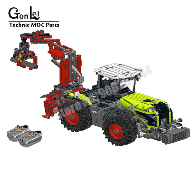Новый мотор для модификации пульта дистанционного управления, набор кирпичей для 42054 CLAAS XERION 5000 TRAC VC высокотехнологичный строительный блок, кирпичи, игрушки для творчества 1