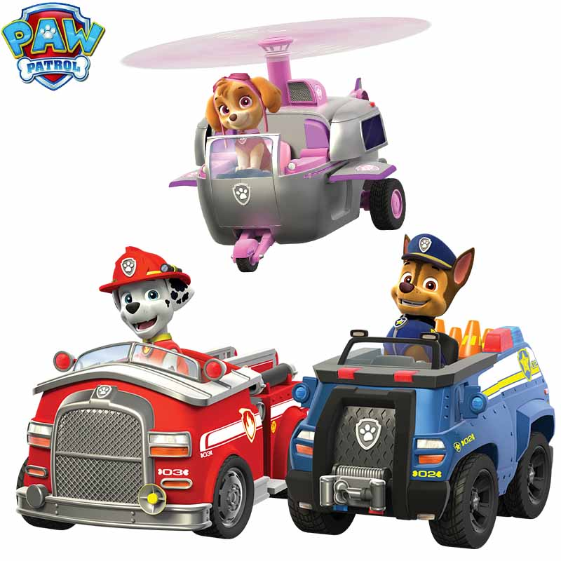 Paw Patrol Toys Set Puppy Patrol Deformed Dog With Shield Patrulha Canina Plastic Car Action Figures Kids Toys For Children 2D32