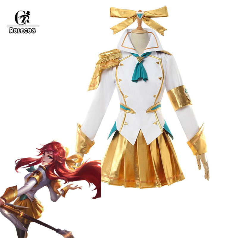 ROLEOCS Battle Academia Lux Cosplay Costume LoL Lux Cosplay Lux Prestige Edition Costume Game Women Outfit Halloween Girl Skirt-in Game Costumes from Novelty & Special Use