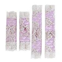 1 par de renda flor polka dot porta/geladeira lidar com capa prática maçaneta da porta capa dupla porta luvas de geladeira|Capas p/ geladeira| |  -
