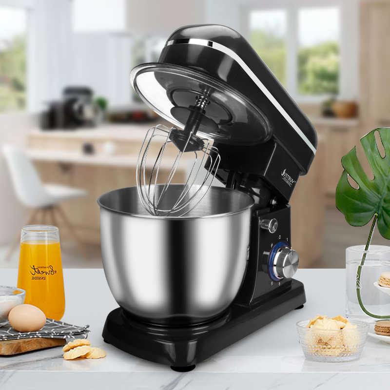 5L misa ze stali nierdzewnej 6-prędkość do kuchni do jedzenia mikser na stojaku krem trzepaczka do jajek Blender ciasto chleb mikser maszyna do produkcji