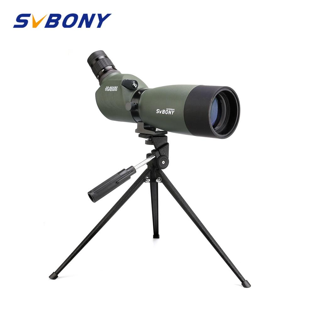 SVBONY Spotting Scope 20-60x60/25-75x70mm Zoom Telescope BAK4 Prism Waterproof 45-Degree Angled Hunting Monocular W/Tripod F9310