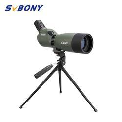 Svbony telescopio terrestre 20-60x60/25-75x70mm Zoom telescopio BAK4 prisma impermeable 45 grados ángulo de caza Monocular con trípode F9310 para caza, tiro, tiro con arco, observación de aves