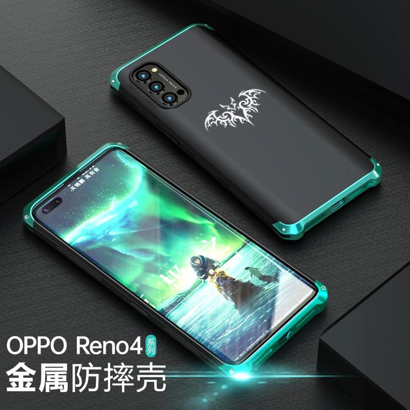 Роскошный противоударный металлический чехол для Oppo Reno 4 Pro, тонкий жесткий алюминиевый и Гибридный чехол для ПК, задняя крышка Oppo Reno4 Pro|Специальные чехлы| | АлиЭкспресс