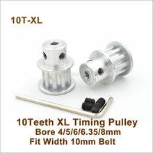 Зубчатый шкив POWGE 10, XL, зубчатый шкив 4-8 мм, подходящая ширина 10 мм, XL, зубчатый ремень 10 T, 10 зубьев XL, синхронный шкив 10-XL BF