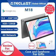 Teclast M18 Tablet Deca Core 10.8 Inch IPS 2560×1600 Resolution 4GB RAM 128GB ROM 13MP Rear 5MP Front 4G Network Call