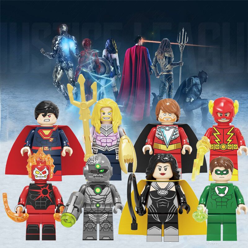 Single DC Super Hero Figure Aquaman Deathstorm Grid Ultimate Man Alexander Luther Johnny Quick Building Blocks Sets Toys