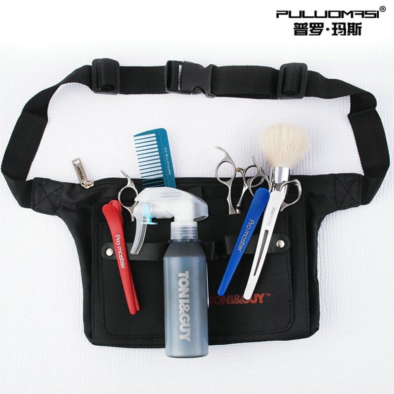 Hair Salon Profession Black Dressing Work Scissors Wallet Multi-functional Practical Pet Assistant Division Bag