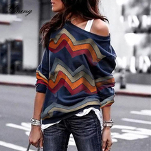 Yming Fashion Oversized Pull Sweater Women Long Sleeve Pullover 2019 Autumn Rainbow Jumper Knitted Chic Woman Tops Truien Dames