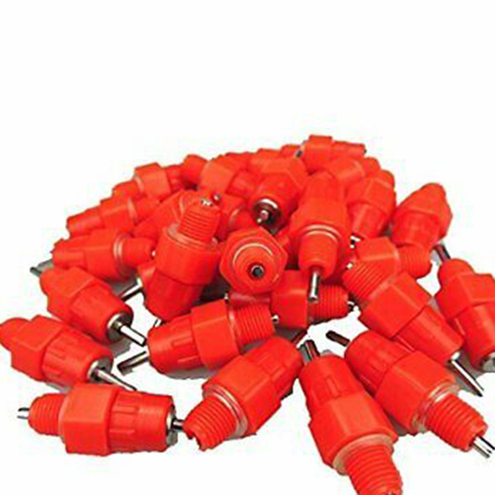 20pcs Poultry Water Nipples Animal Automatic Drinker Waterer Feeder Screw Drinking Nipples