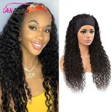 Encaracolado peruca do cabelo humano perucas feitas perucas de cabelo humano com bandana alianna peruano remy cabelo 30 Polegada perucas para preto