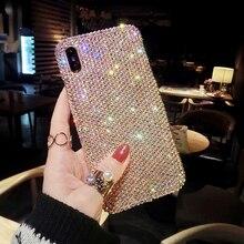 Fashion Handmade Bling Full Rhinestone Diamond Case For iPhone 11 Pro Max 2019 XS XR X 6 6S 7 8 Plus Glitter Women Girl
