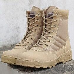 Lzj 2019 inverno novas botas militares dos homens confortáveis botas quentes do deserto moda botas táticas tornozelo cinta botas de neve masculina 36-46