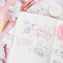 30packs/lot Soft Cute Rabbit Diary Stickers Christmas Stickers Decoration Adhesive Scrapbook Stationery Stickers