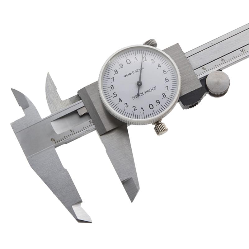1x High Precision Stainless Steel Dial Caliper 0-150mm 6/'/' Table Vernier Caliper