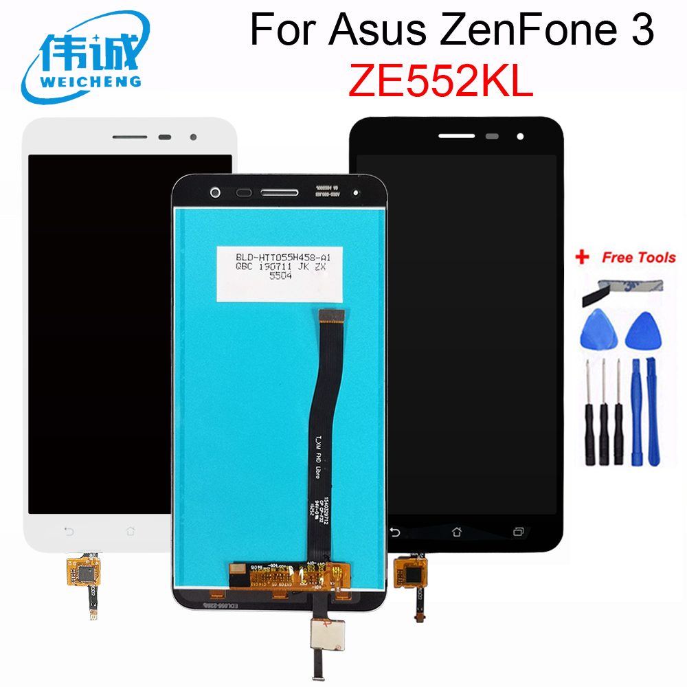 5.5''For <font><b>Asus</b></font> <font><b>ZenFone</b></font> <font><b>3</b></font> <font><b>ZE552KL</b></font> <font><b>LCD</b></font> <font><b>Display</b></font> Touch Screen with Frame Digitizer Assembly Z012D Z012DC Z012DA <font><b>Display</b></font> image