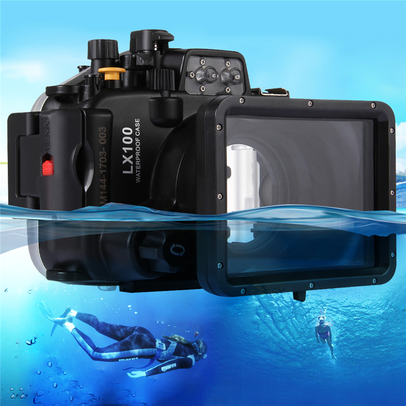 Underwater Swimming Diving Case Waterproof Camera <font><b>bag</b></font> Housing case for Panasonic <font><b>LUMIX</b></font> DMC-<font><b>LX100</b></font> <font><b>LX100</b></font> 40m 130ft image