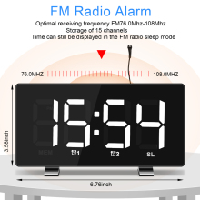New LED Modern Snooze Alarm Clock with Dual USB Square Desk Clocks Desktop Digital Display Electronic For Home Decor