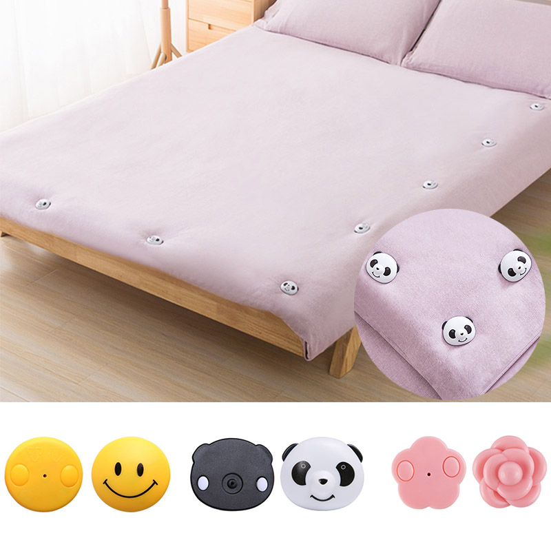4PCS/Set Cute Panda Bed Sheet Clips Non-Slip Fitted Quilt Sheet Holder Clip Bed Sheet Set Socks Mattress Fasten Fixator Holder