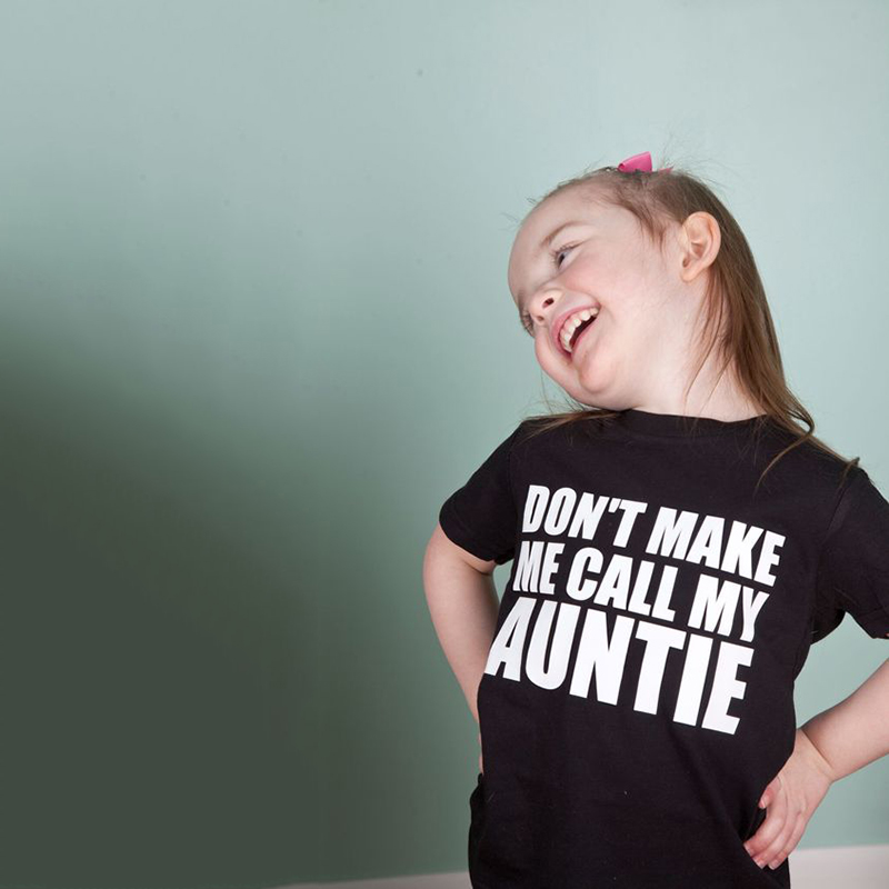 Don't Make Me Call My Auntie Funny Printing Kids Boys Girls Short Sleeve Tshirts O-neck Casual Tops Tee Shirts Toddler Clothes