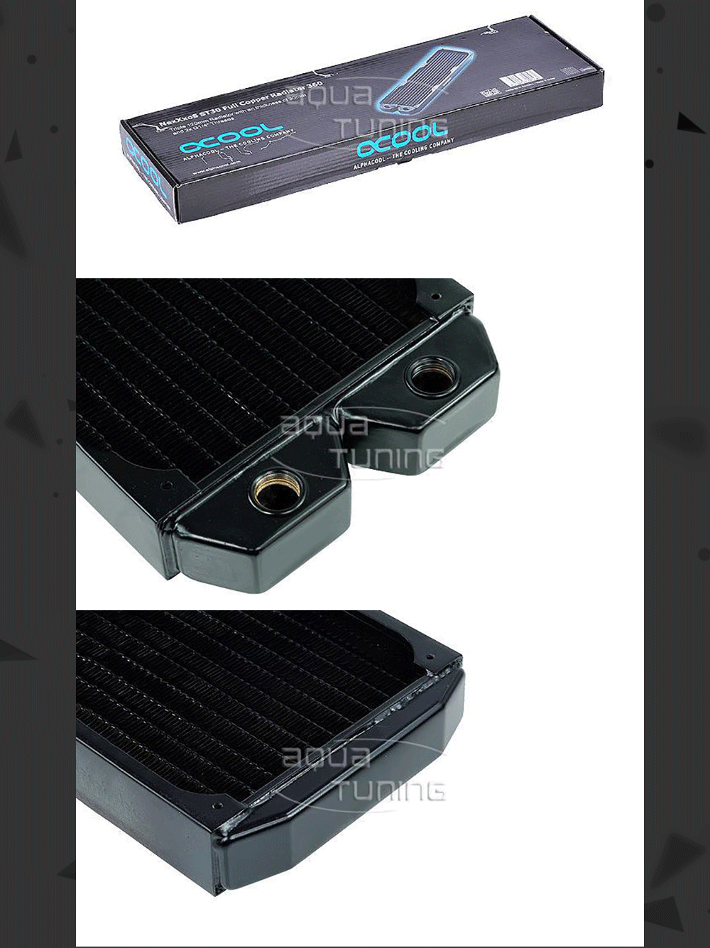 Cold row full copper radiator Alphacool NexXxoS ST30 Full Copper 360mm