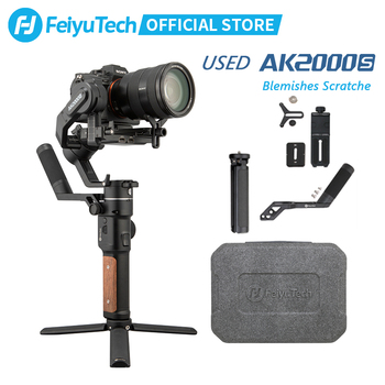 Used FeiyuTech AK2000S DSLR Professional Camera Stabilizer Blemishes Scratche Handheld Gimbal fit for Mirrorless Camera moza air 2 aircross handheld gimbal portable bag for dslr digital camera moza air 2 handle gimbal stabilizer original