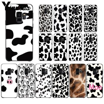 Yinuoda White Black Cow Symbol Top Detailed Popular Cell Phone Case Cover For GALAXY s5 s6 edge edge plus s7 s8 plus s9 plus image