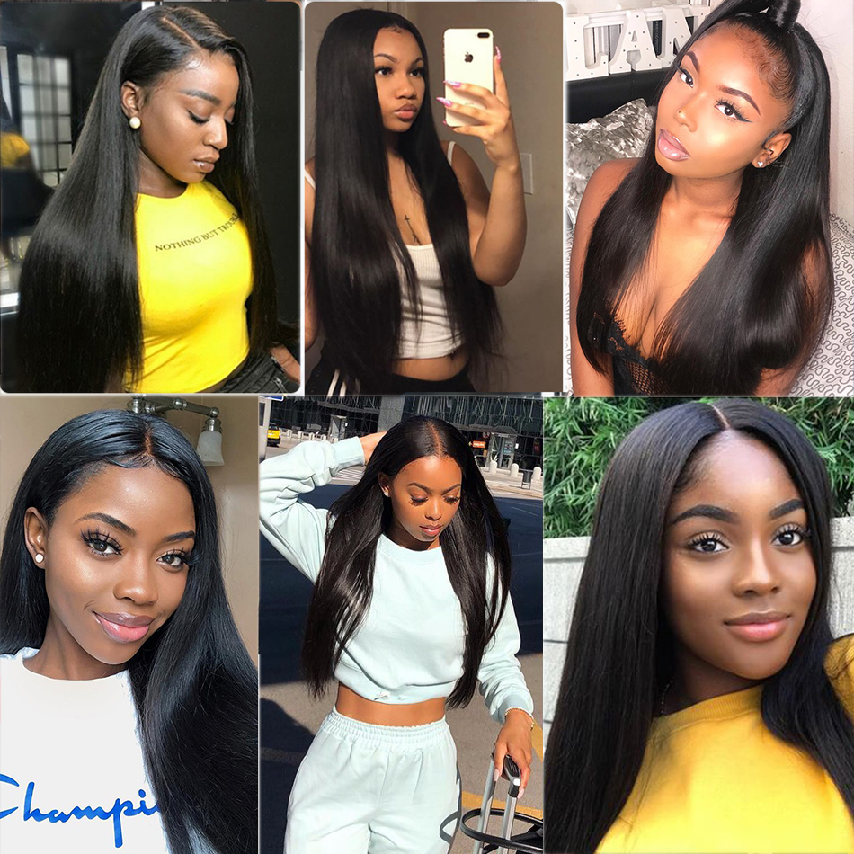 Fashow 30 32 34 36 40 inch  Straight Hair Bundles 100% Natural  Bundles Double Wefts  Hair s 6