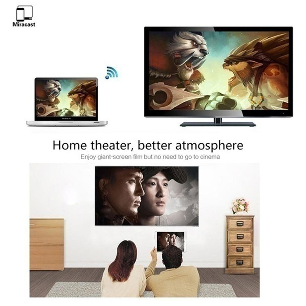 Wireless Display Dongle HDMI Adapter Portable TV Receiver 2.4G 1080P Airplay Dongle Mirroring Screen Miracast Support