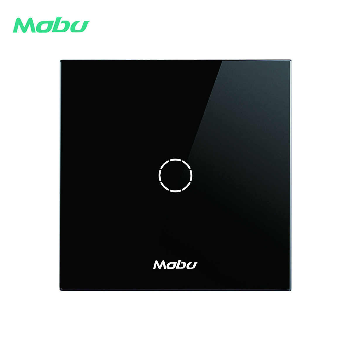 Mobu 123 Gang 1 Arah, Crystal Glass Panel Touch Switch, Dinding Layar Sentuh Tombol