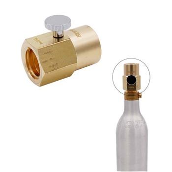 Butelka na napój gazowany CO2 zapasowy Adapter Soda nadmuchiwany konwerter zaworu z W21 8-14 CGA320 zbiornik Homebrew Kegging Co2 sprzęt tanie i dobre opinie BrewApex Metal Sprzęt karbonizacja