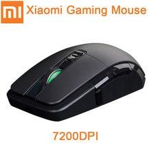 Original xiaomi gaming mouse 7200dpi rgb backlight jogo óptico recarregável 32 bits braço usb 2.4ghz computador sem fio mouse
