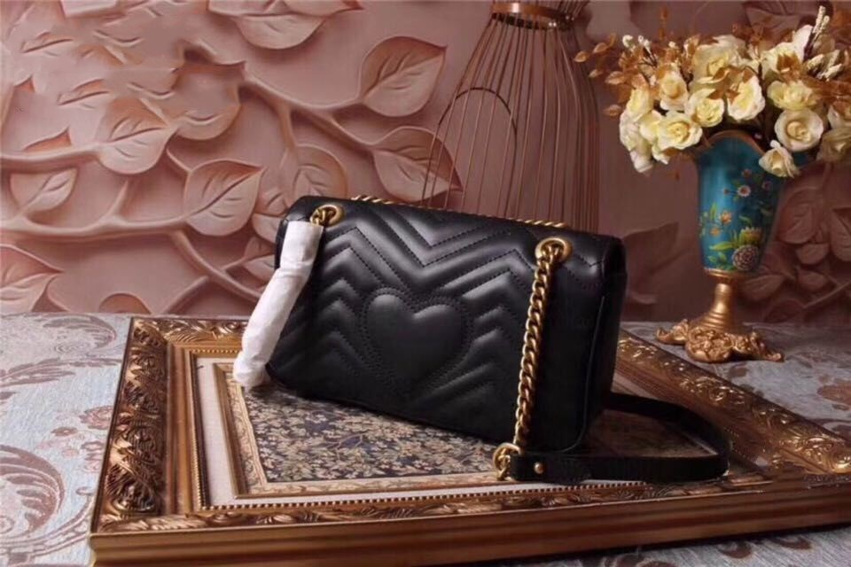 high quality Ms Shoulder Bags 100% genuine leather Double petals handbag leather Luxury Designer classic Messenger bag