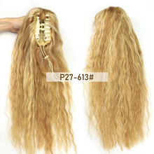 Ponytail-Clip Hair-Extensions P27-613 MRSHAIR Drawstring Natural Crab Blonde Claw-On