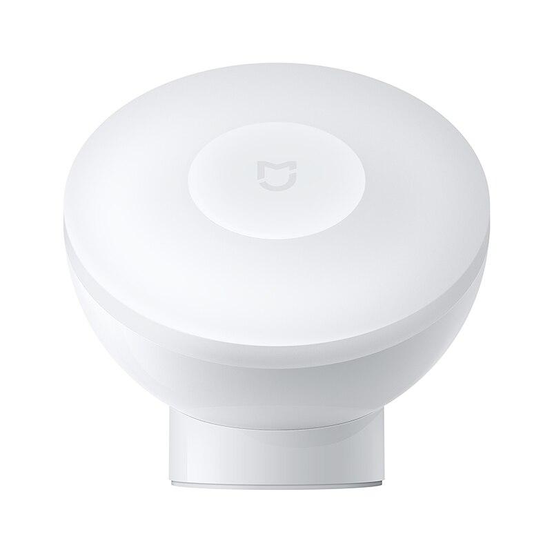 Original Xiaomi Mijia LED Smart Motion Sensor Night Light 2 AA Battery Powered Induction Lamp For Cabinet Stairs Closet Corridor (White)