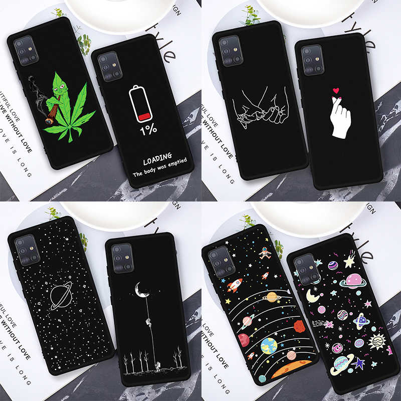 For Samsung Galaxy A51 Silicone Pattern Case For Samsung Galaxy A71 A51 A50 A70 Back Cover on the A 51 71 50 70 Phone Case Shell