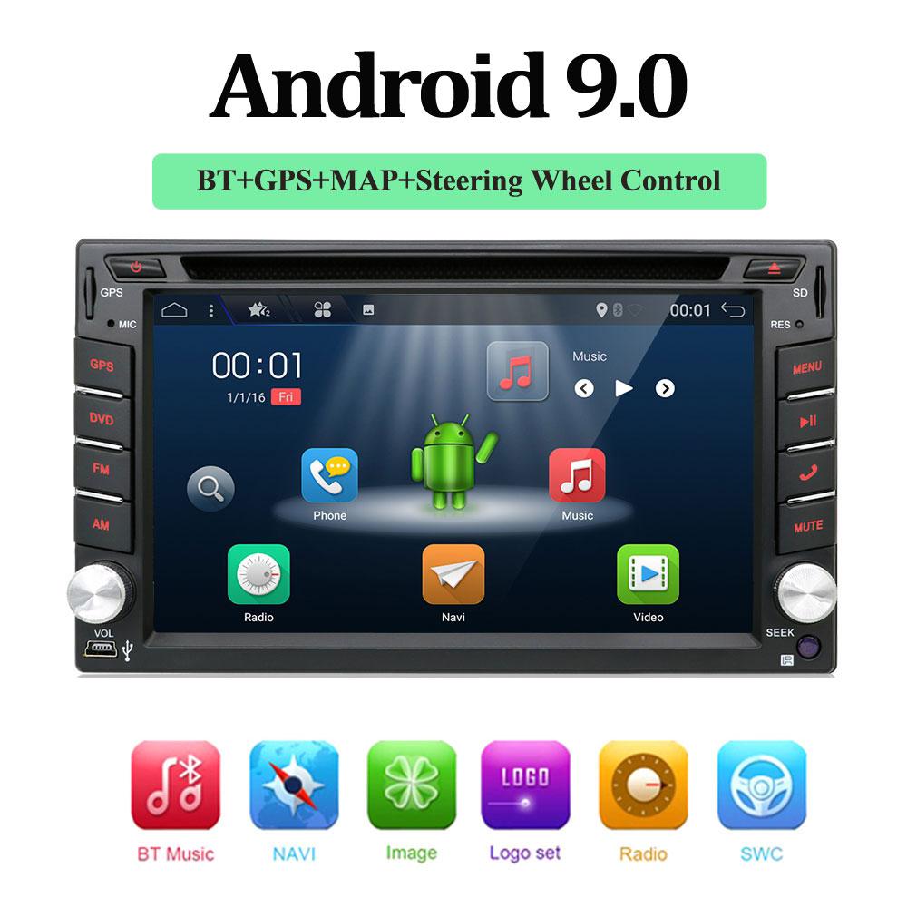 2 din android 9.0 car dvd for nissan qashqai x-trail almera juke universal car multimedia player gps navigation