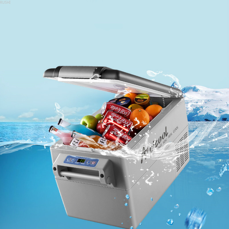 Vehicle Refrigeration Compressor Vehicle Home Dual-purpose DC12V 24V Mini Car Refrigerator Cabinet Small Storage Cooler Box