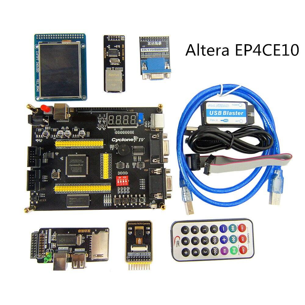 ALTERA Cyclone IV EP4CE10 Placa de desarrollo FPGA Altera EP4CE NIOSII FPGA tablero y programador de Blaster USB