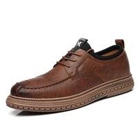 Neue Männer Casual Schuhe Mode Business-Oxfords Formale Schuhe für Männlichen Rutsch auf Leder Runde Kappe Männer Hochzeit Kleid Schuhe %