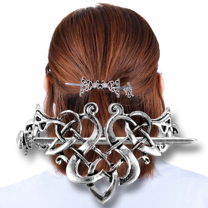 Viking hairpins jóias grande celtics nós coroa estilo vintage ouro nordic mitologia grampo de cabelo casamento acessórios para o cabelo