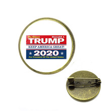 Trump 2020 Symbol Brooch American Flag Stars and Stripes Vote for Donald Trump Fans Cool Coat Jackets Pins Brooches RIVERDALE(China)