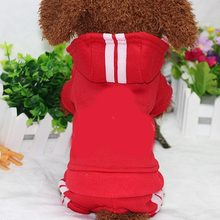 PUOUPUOU Winter Warm Pet Dog Clothes Hoodies Sweatshirt for Small Medium Dogs French Bulldog Sweet Puppy Dog Clothing XS-XXL(China)