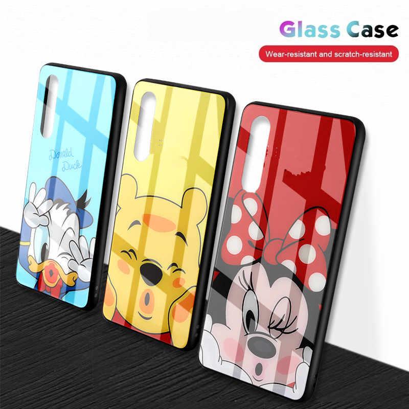 強化ガラス三星銀河 S8 S9 S10 プラス S10e 注 8 9 A30 A50 A7 2018 マウス女性カバー漫画ケースアクセサリー